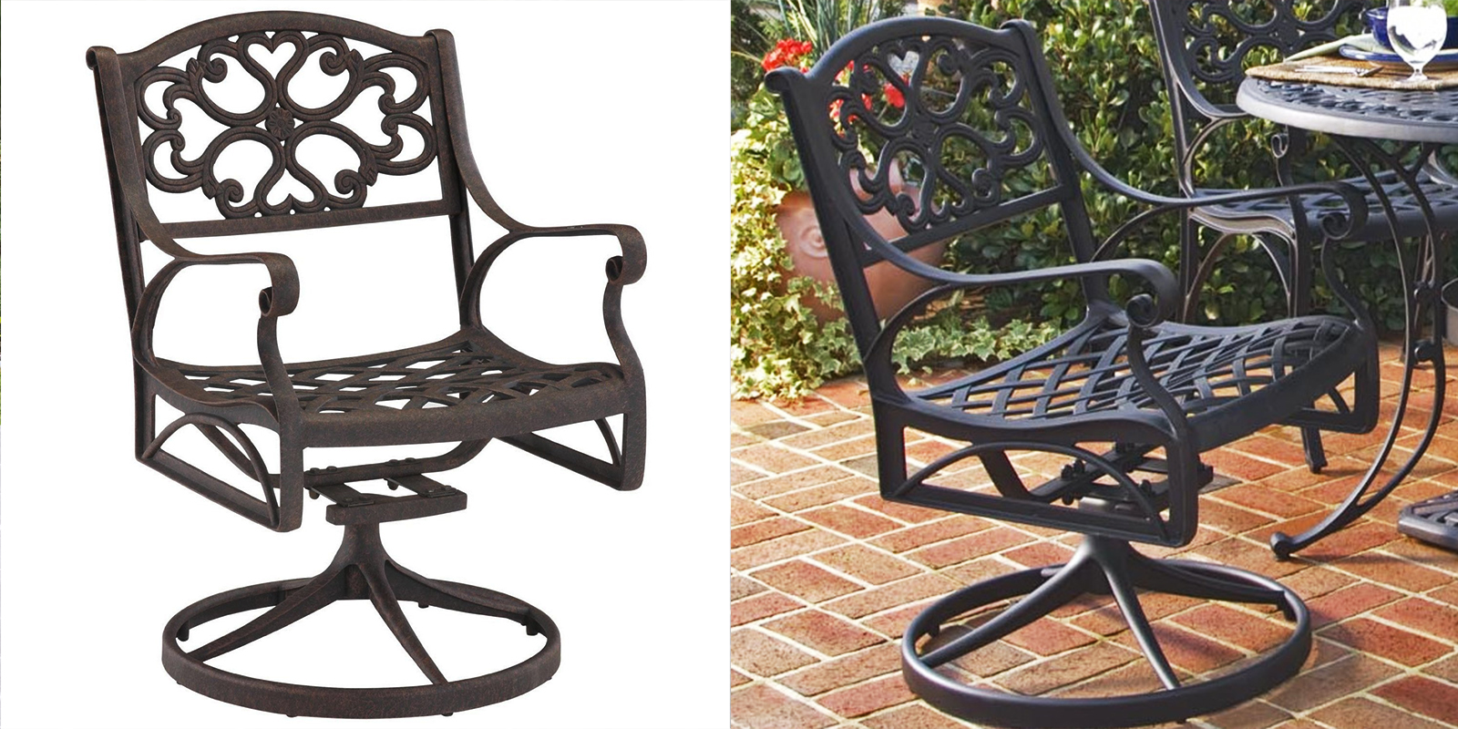 Patio Chair - Swivel-Rocking Arm Chair