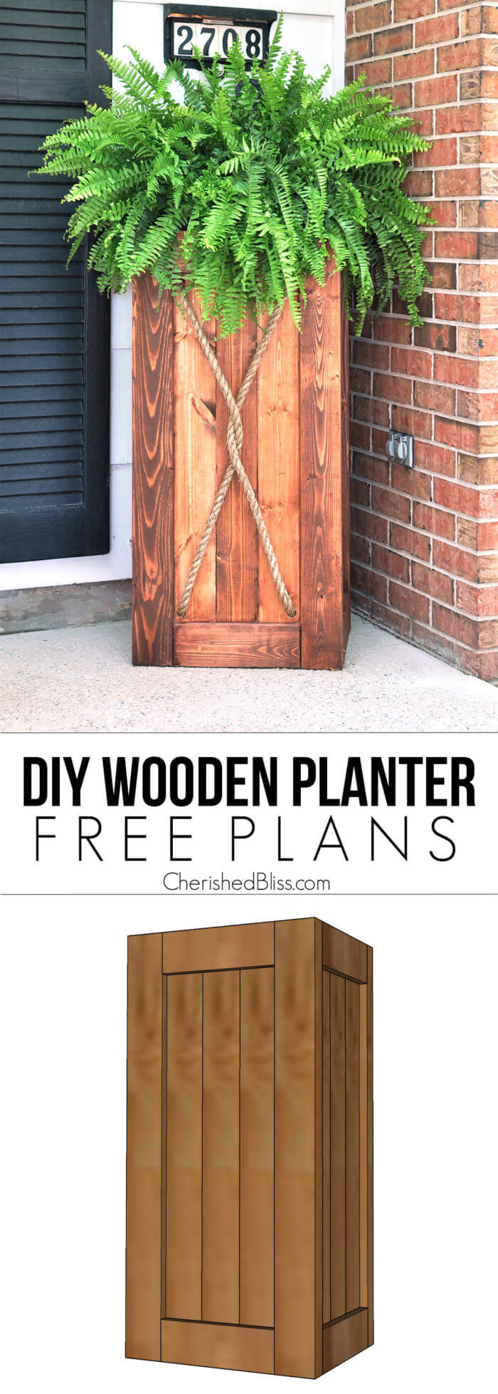 Make Your Own Tall Wooden Planter