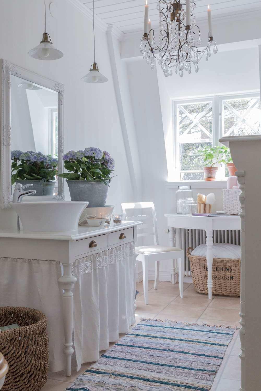 Repurposed Table Vanity with Dust Ruffle