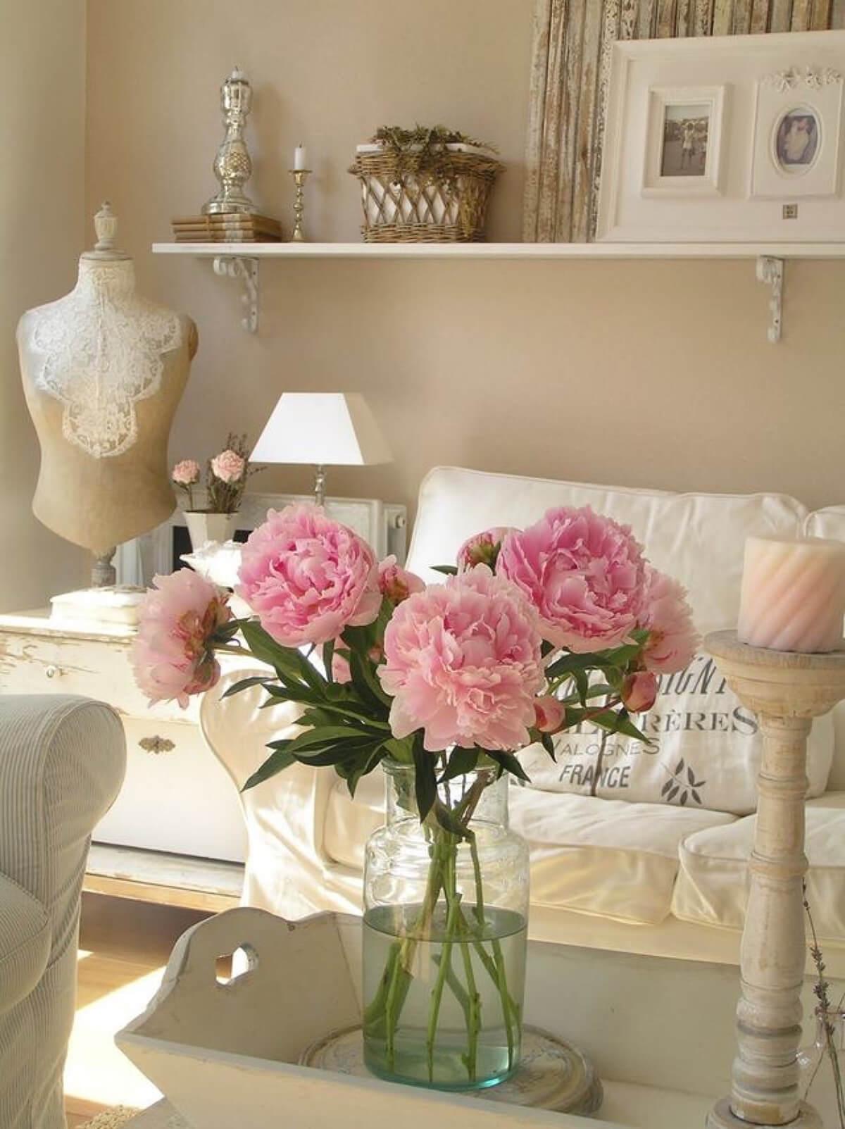Dainty Arrangement with Pink Peonies