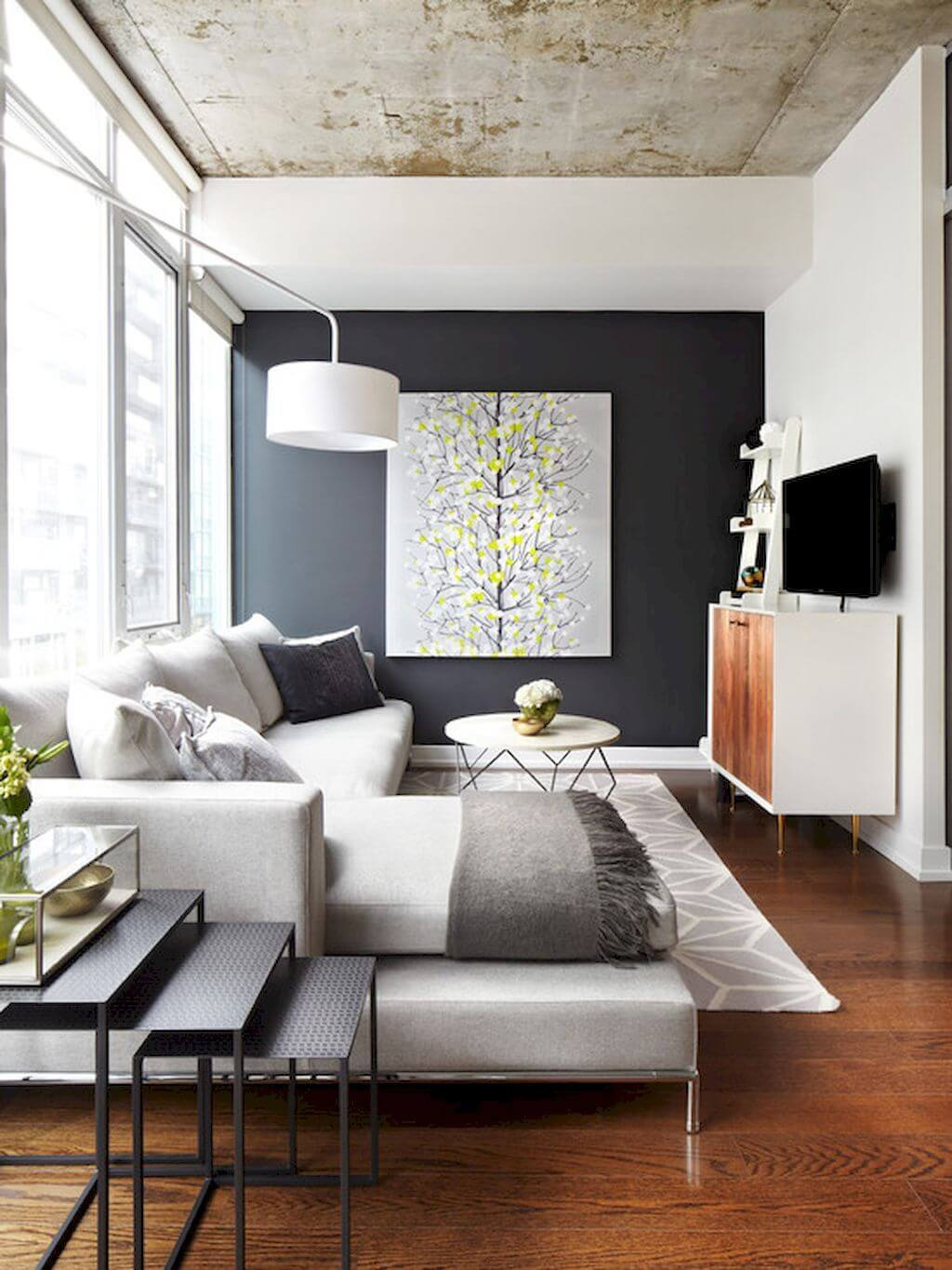 Contemporary Room with Wall Art