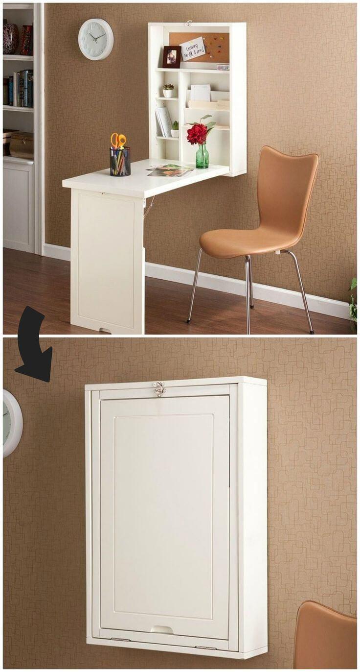 Foldaway Desk in a 3x2 Cabinet