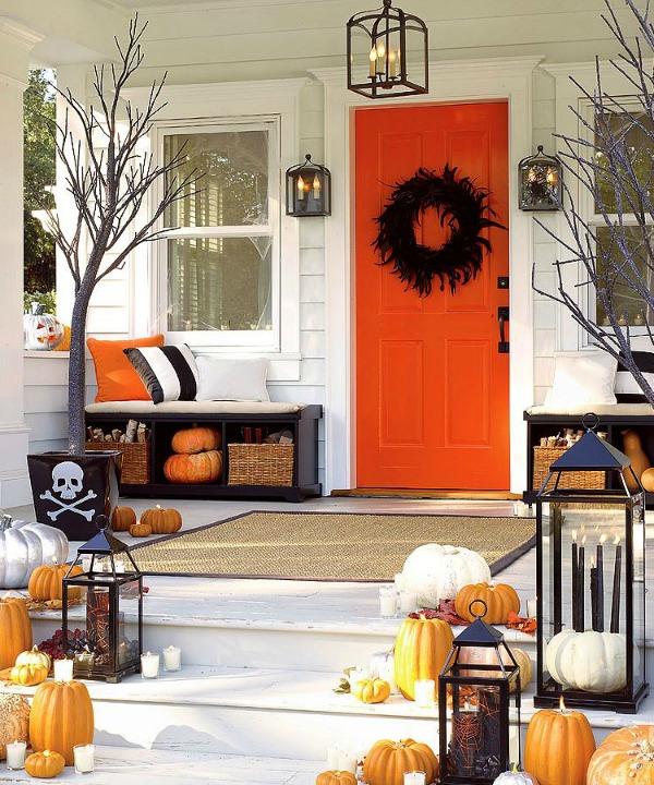 Funky Halloween Porch