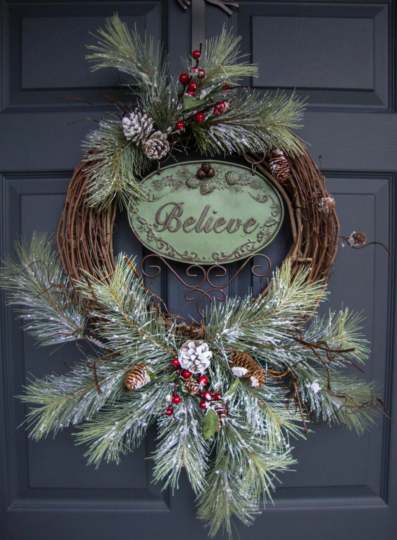 Iron and Pine Believe Wreath