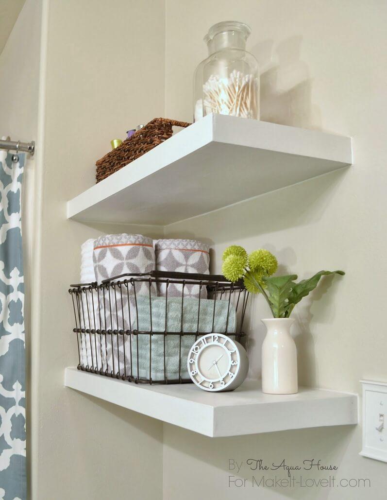 Scandinavian Simplicity Corner Shelves