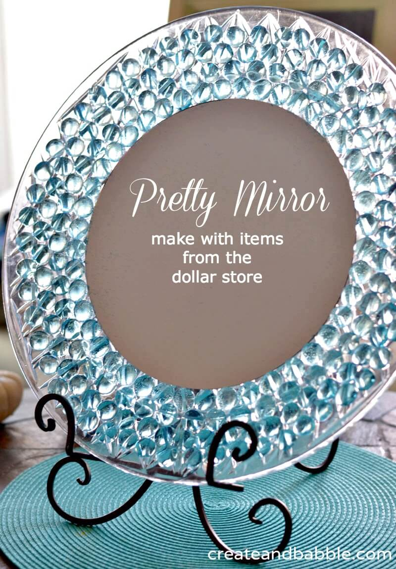 Inexpensive Mirror with Glass Gems