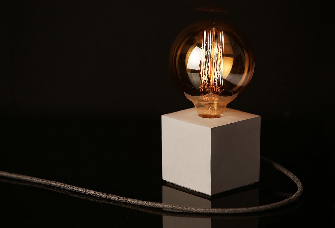 Concrete Base For A Modern Lamp