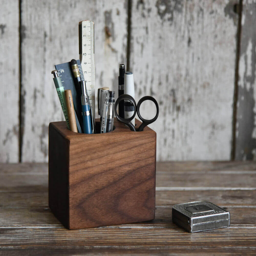 Simple and Modern Desk Arranger from Wood