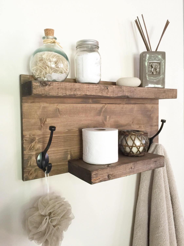 DIY Wood Towel Rack and Organizer