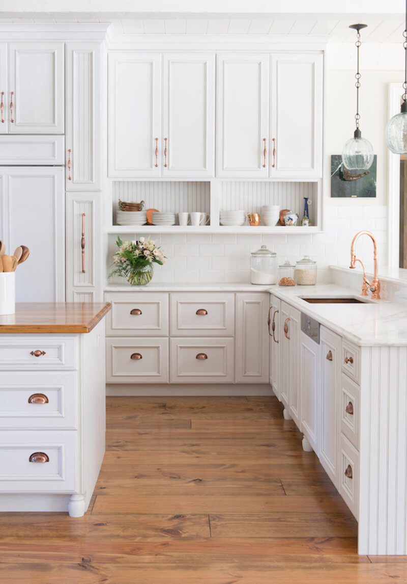 Classic Farmhouse Cabinets with Modern Twist