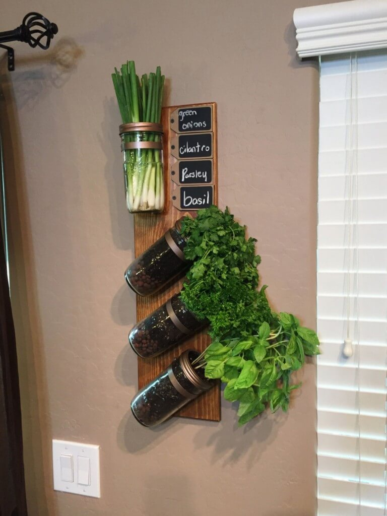 Hanging Jar Herb Garden 'With a Twist!'