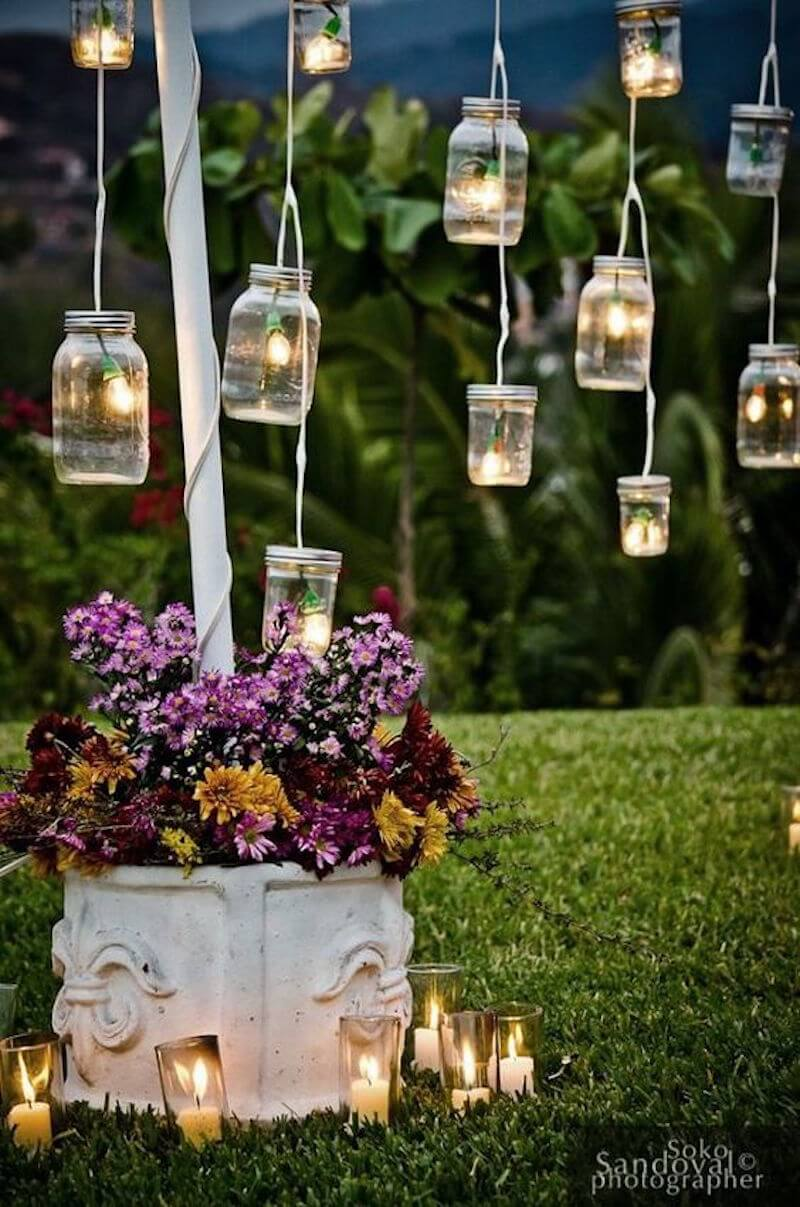 Fairy Lights Join with Mason Jars in this Simple and Pretty Solution