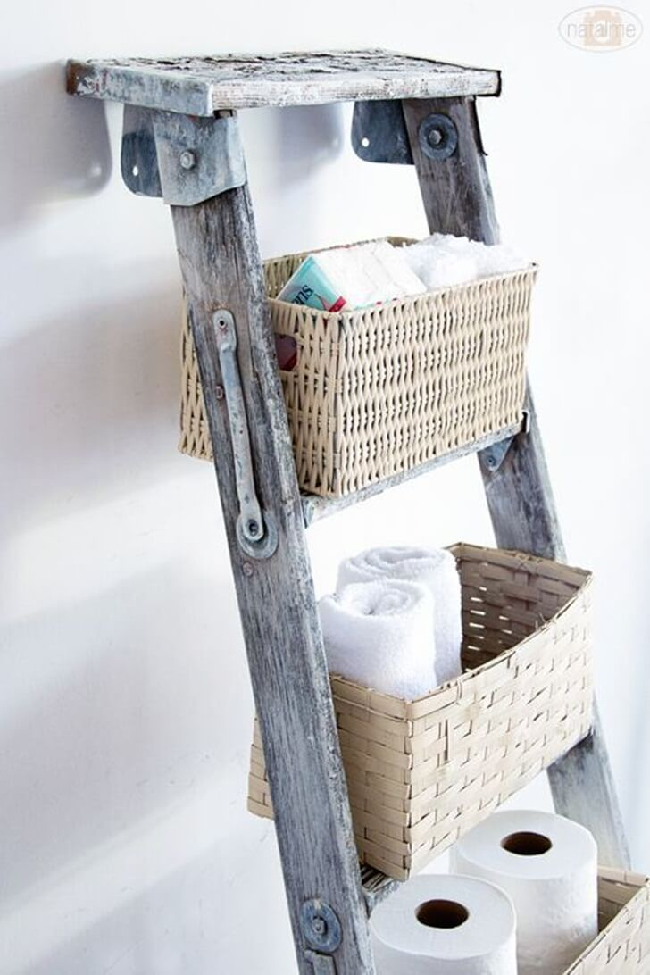 Farm Fresh Bathroom Basket Display