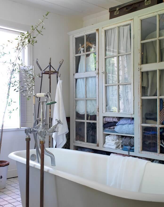 Linen Closet with Antique Doors