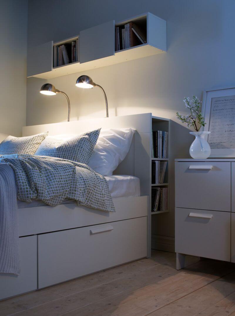 White and Smar Multifunctional Panel Shelves