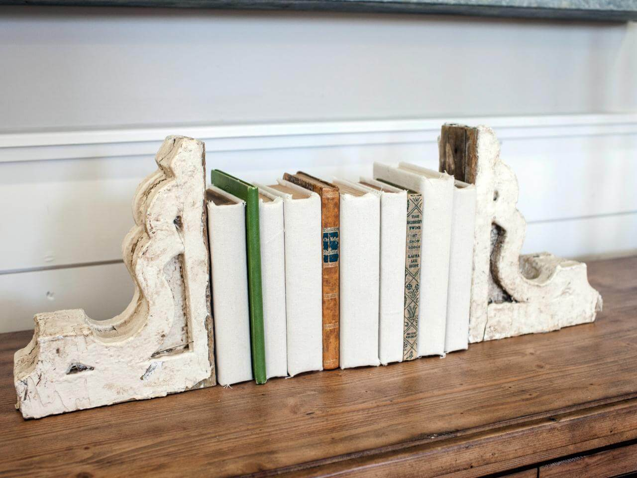 Antique Wall Brackets as Bookends