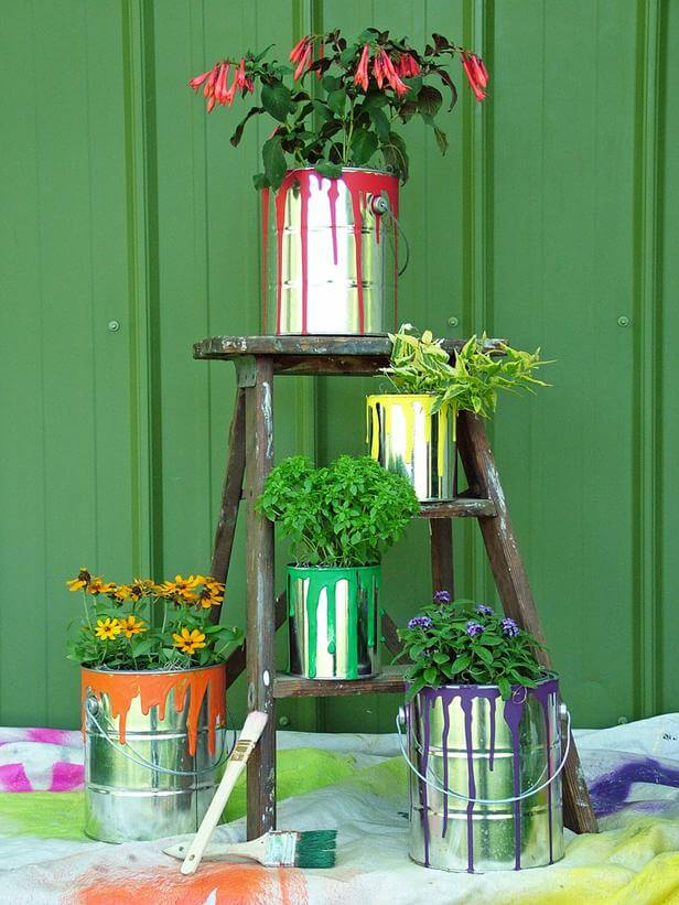 Paint Can and Ladder Set-up