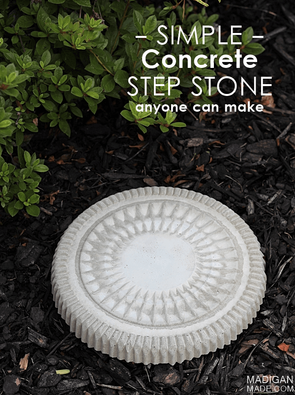 Detailed Concrete Garden Stepping Stone