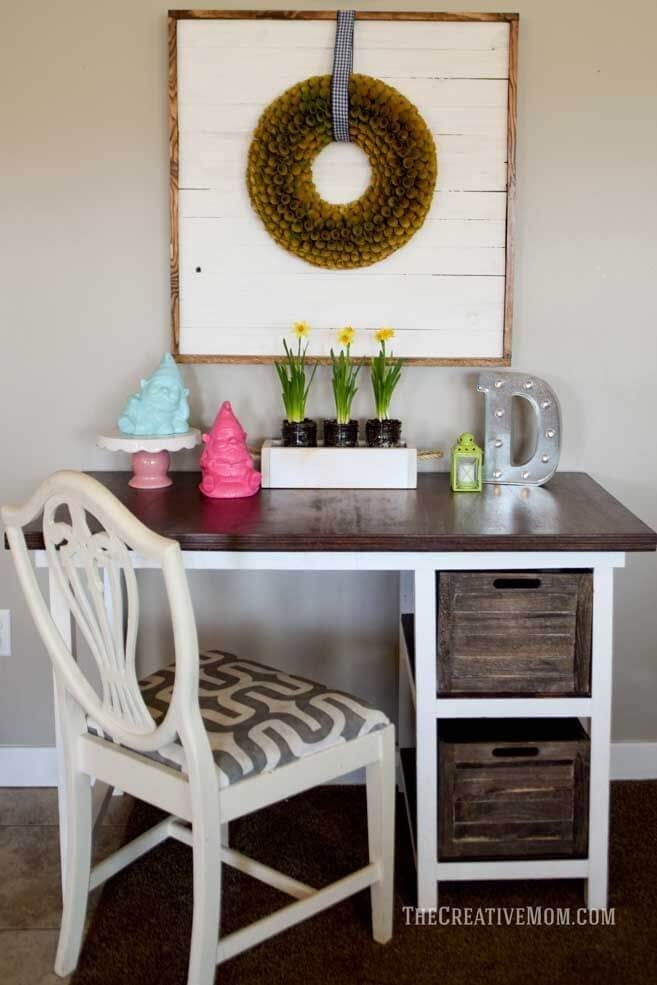 Cute Desk with Storage Crates
