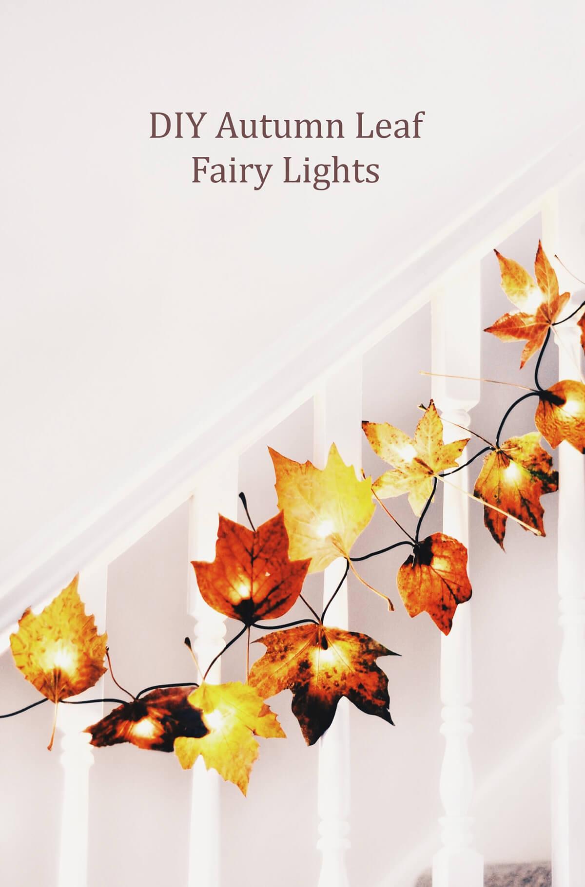 Enchanted Autumn Leaf Illuminated Garland