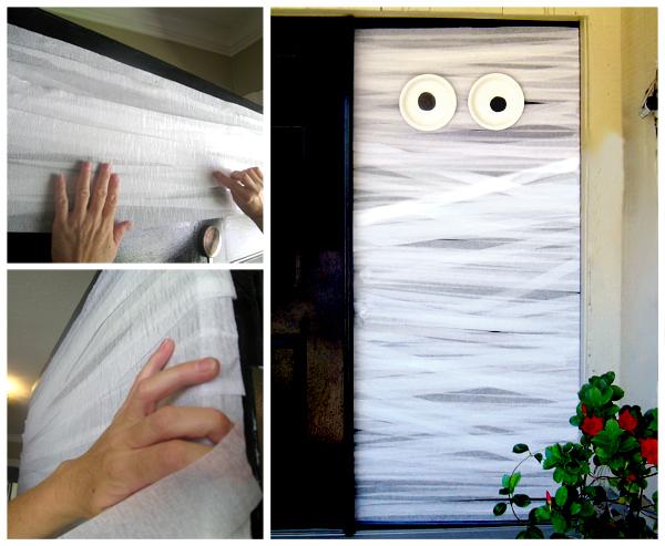 DIY Halloween Mummy Door Decoration