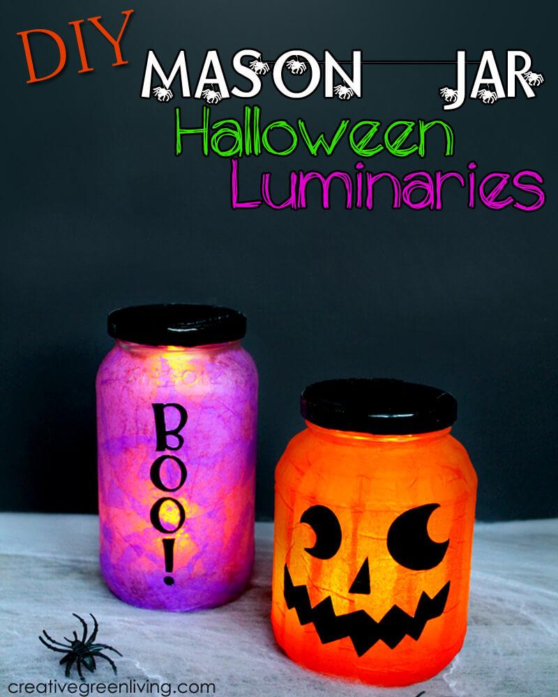 Not-So-Scary Halloween Mason Jar Lanterns
