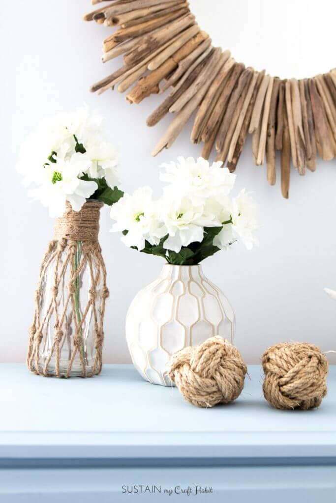 Rope Netted Vase Bottles and Decorations