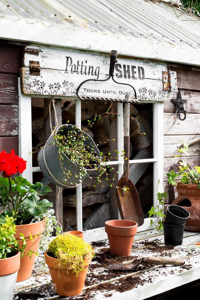 DIY Potting Shed Garden Sign