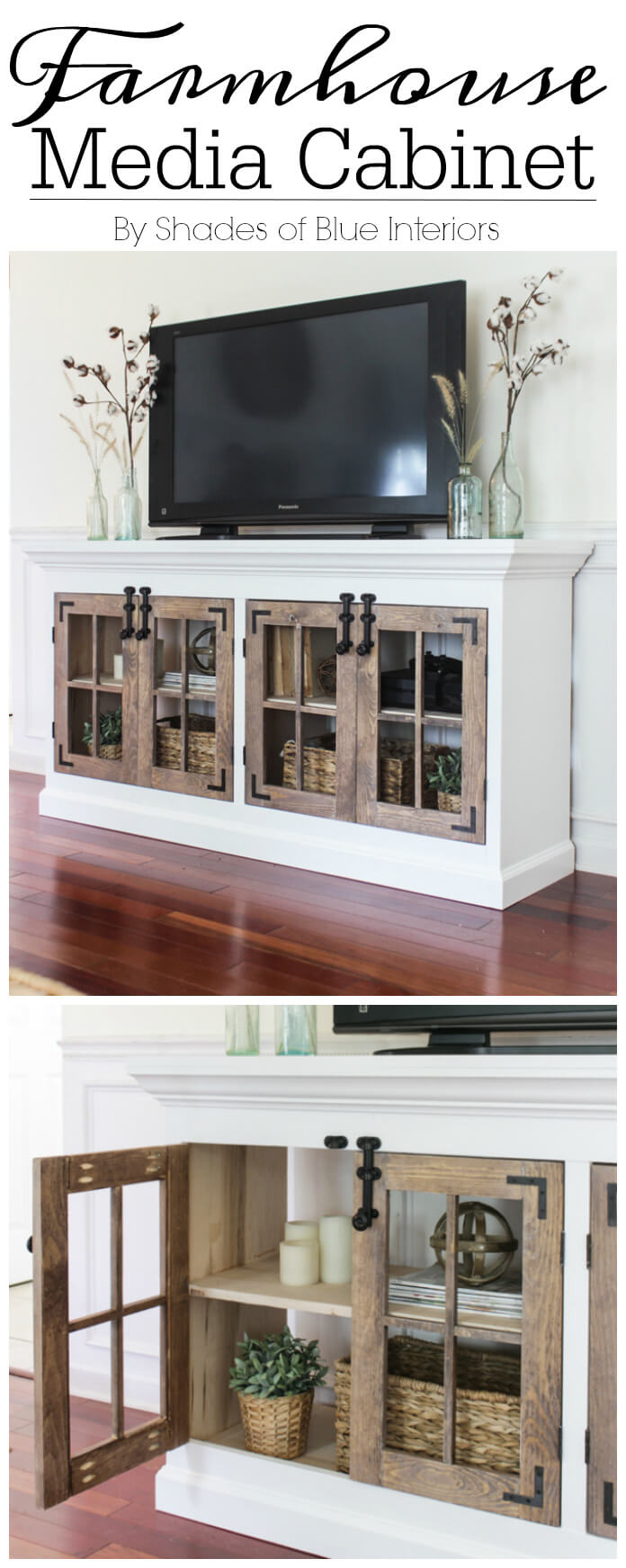 How to Work TVs into Farmhouse Décor