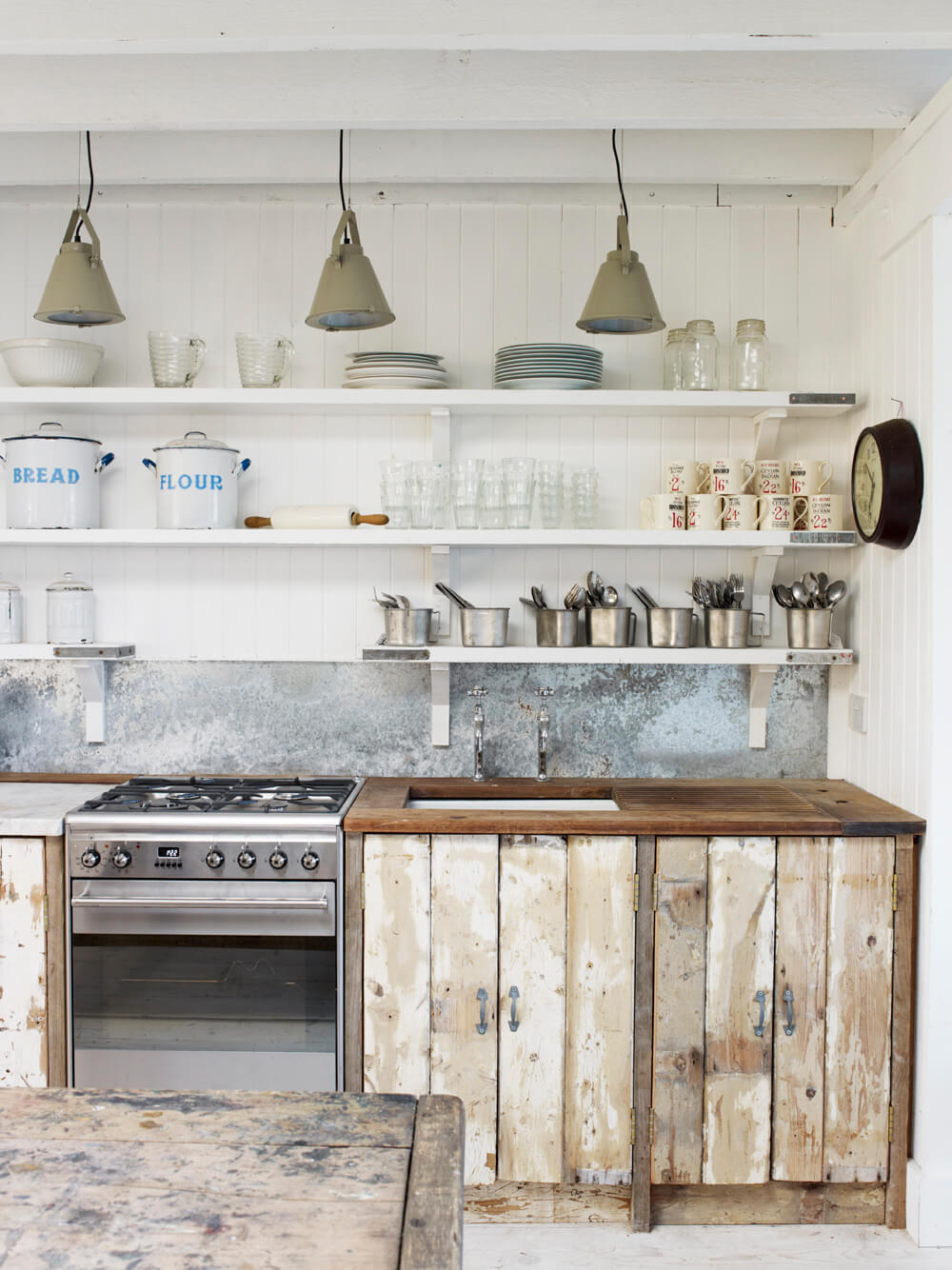 Shiplap Unfinished Farmhouse Rustic Cabinets