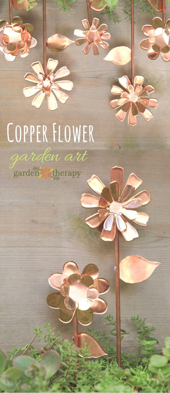 Garden Art DIY Project Idea with Copper