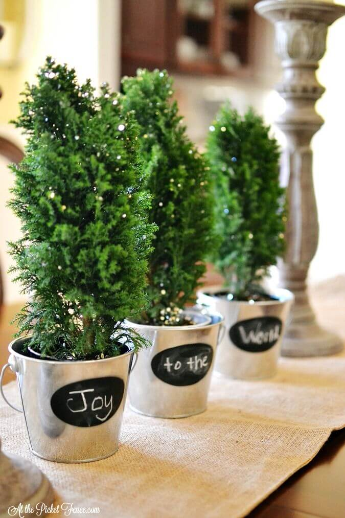 Mini Customizable Christmas Tree Planters