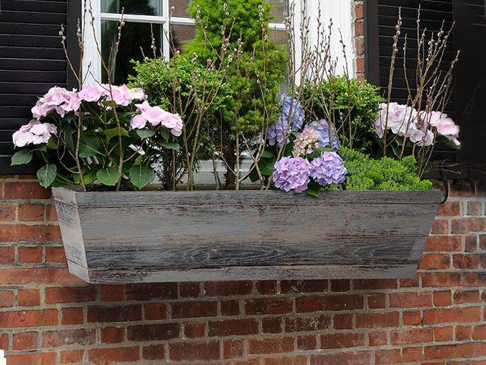 Simple Distressed Wood Window Box