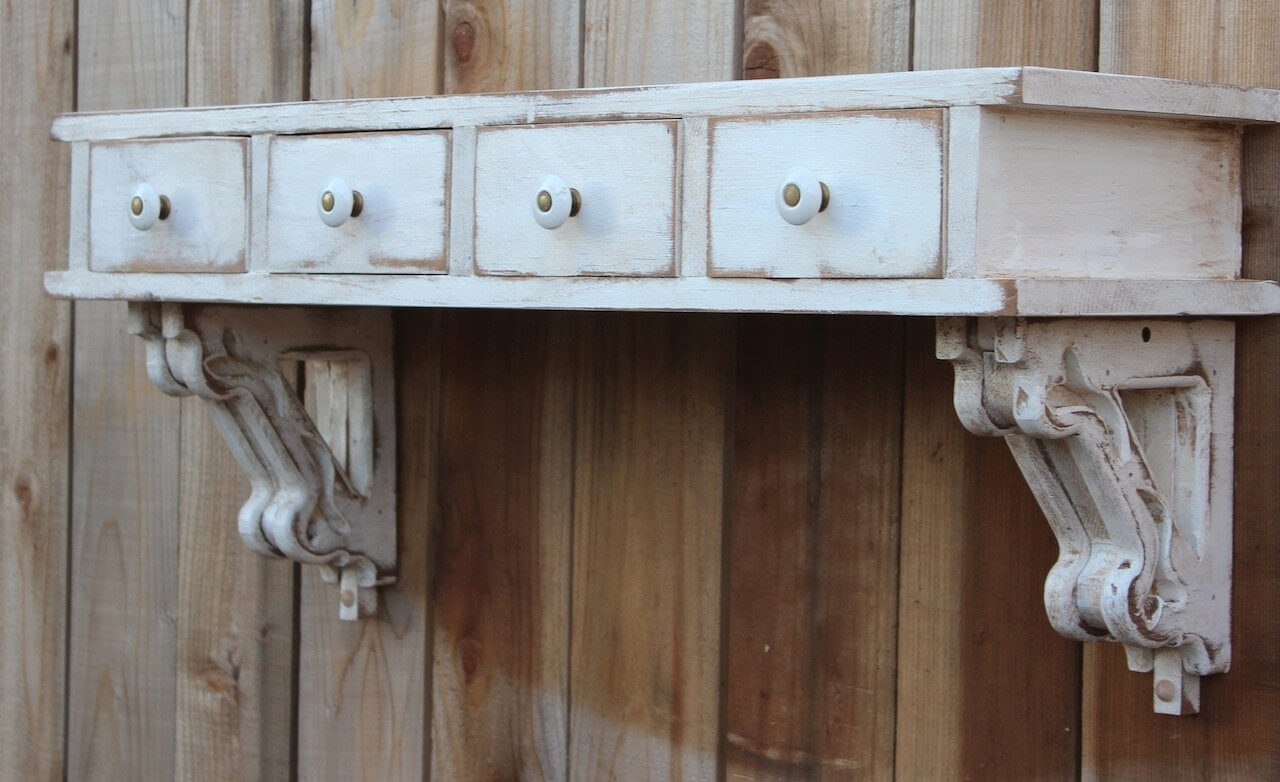 Corbel and Drawers Novelty Shelf
