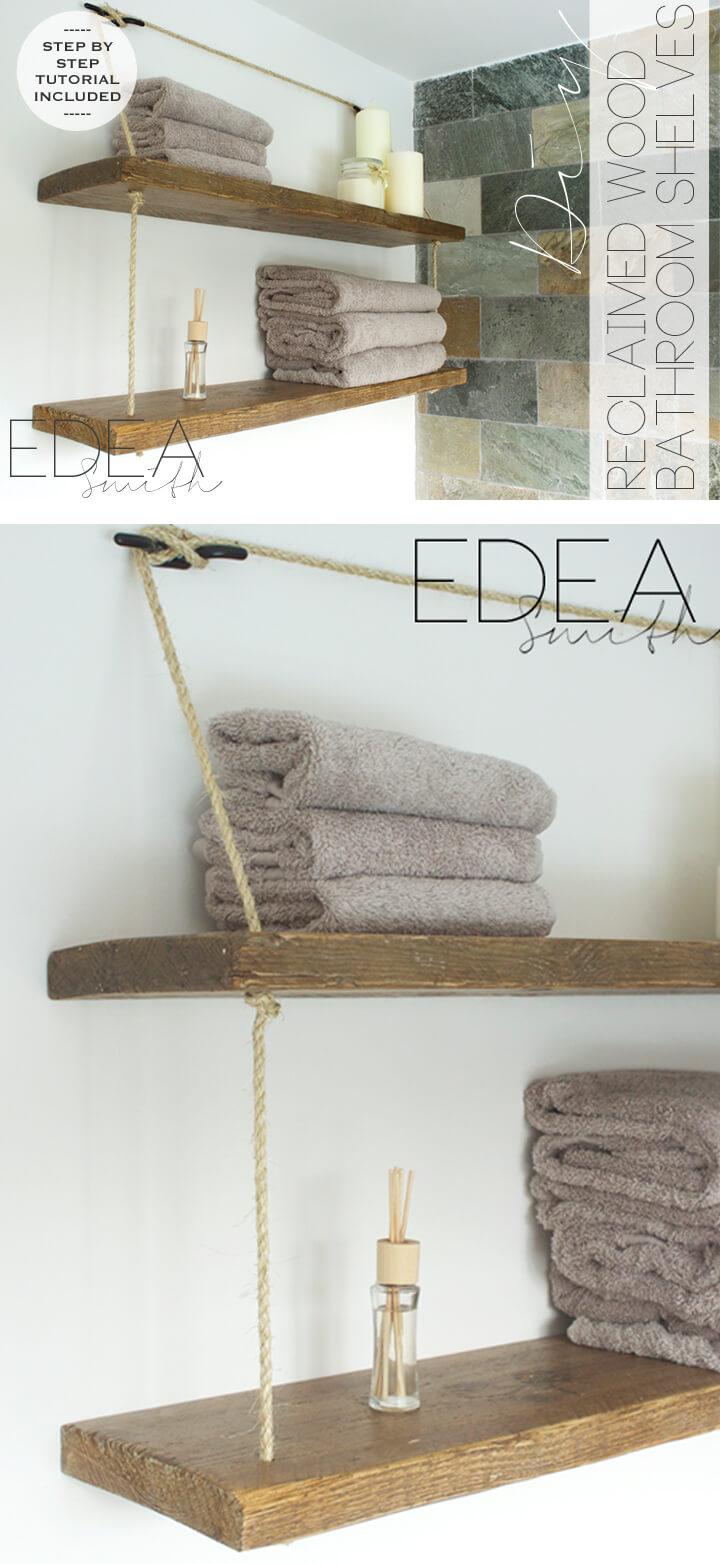 Rope-Strung Wooden Sailor's Shelves