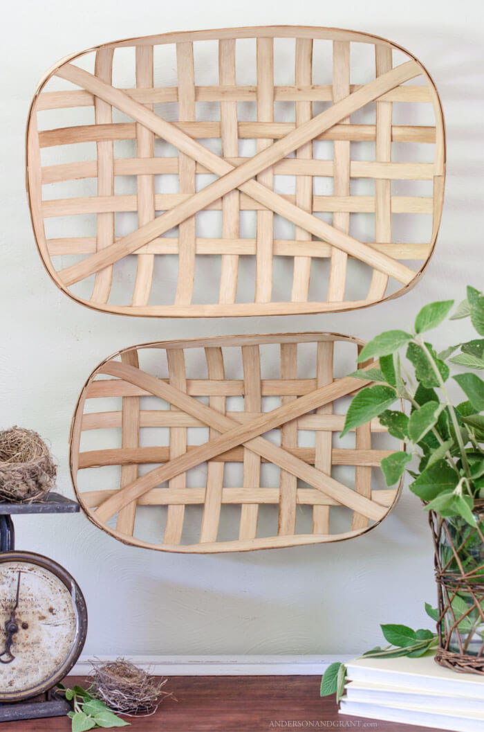 Pretty DIY Basket Hangings for Your Wall