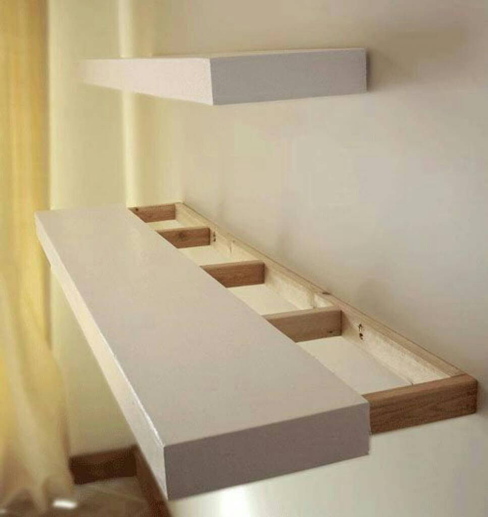 Light Wight White Floating Shelves
