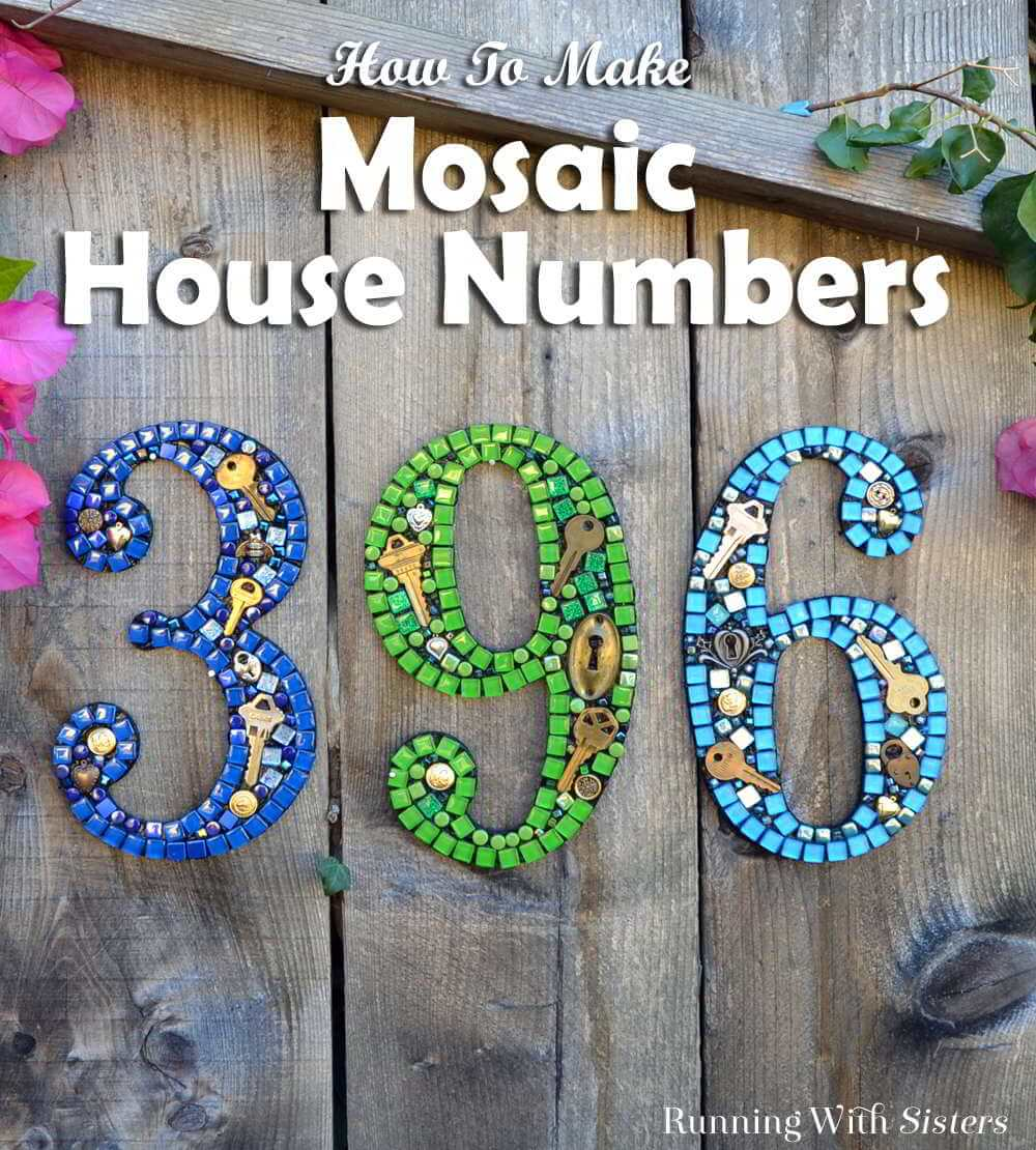 Creative House Numbers with Keys and Locks