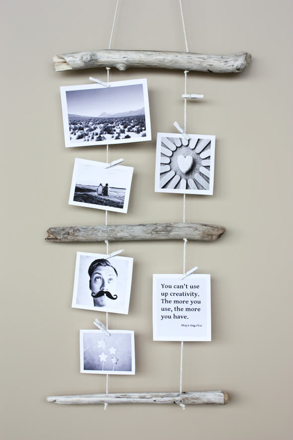Driftwood Photo and Memo Holder