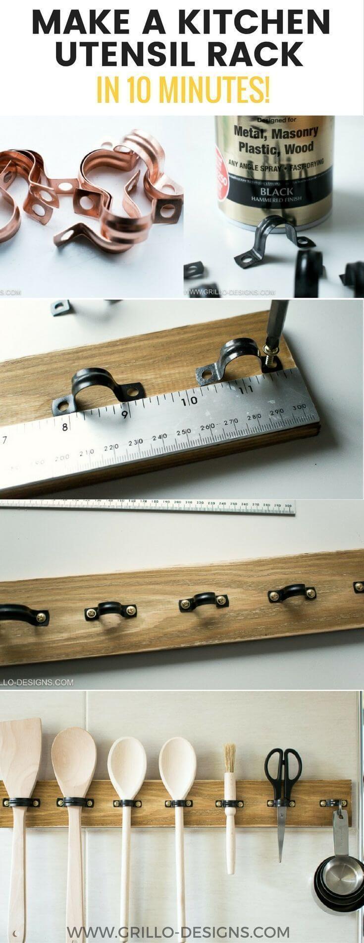 Easy To Make Kitchen Utensil Rack