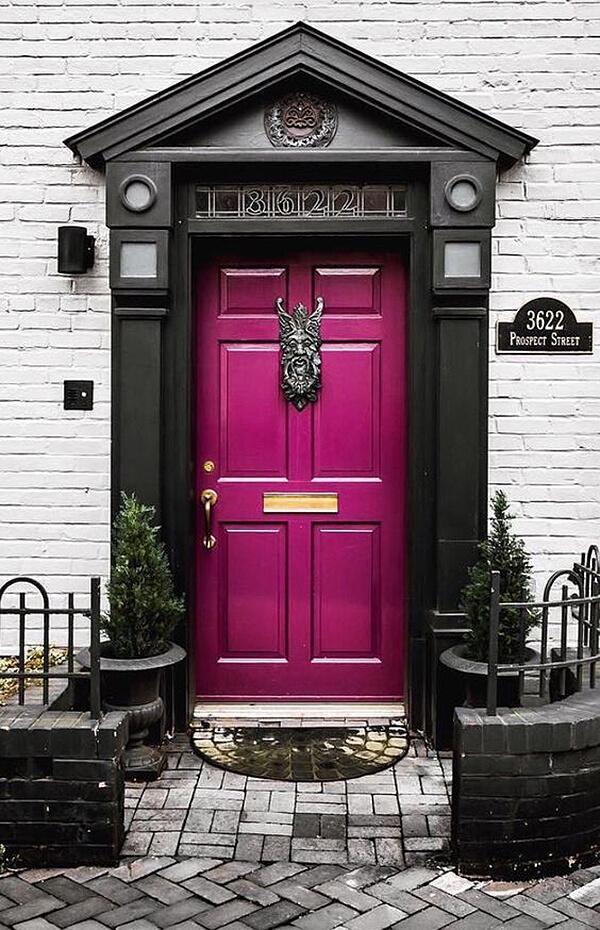 Magenta Version Front Door Color Ideas