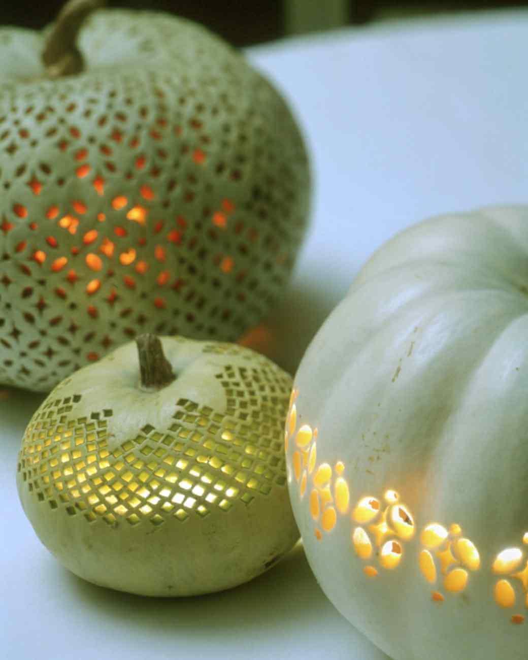 Lace Patterned Pumpkins