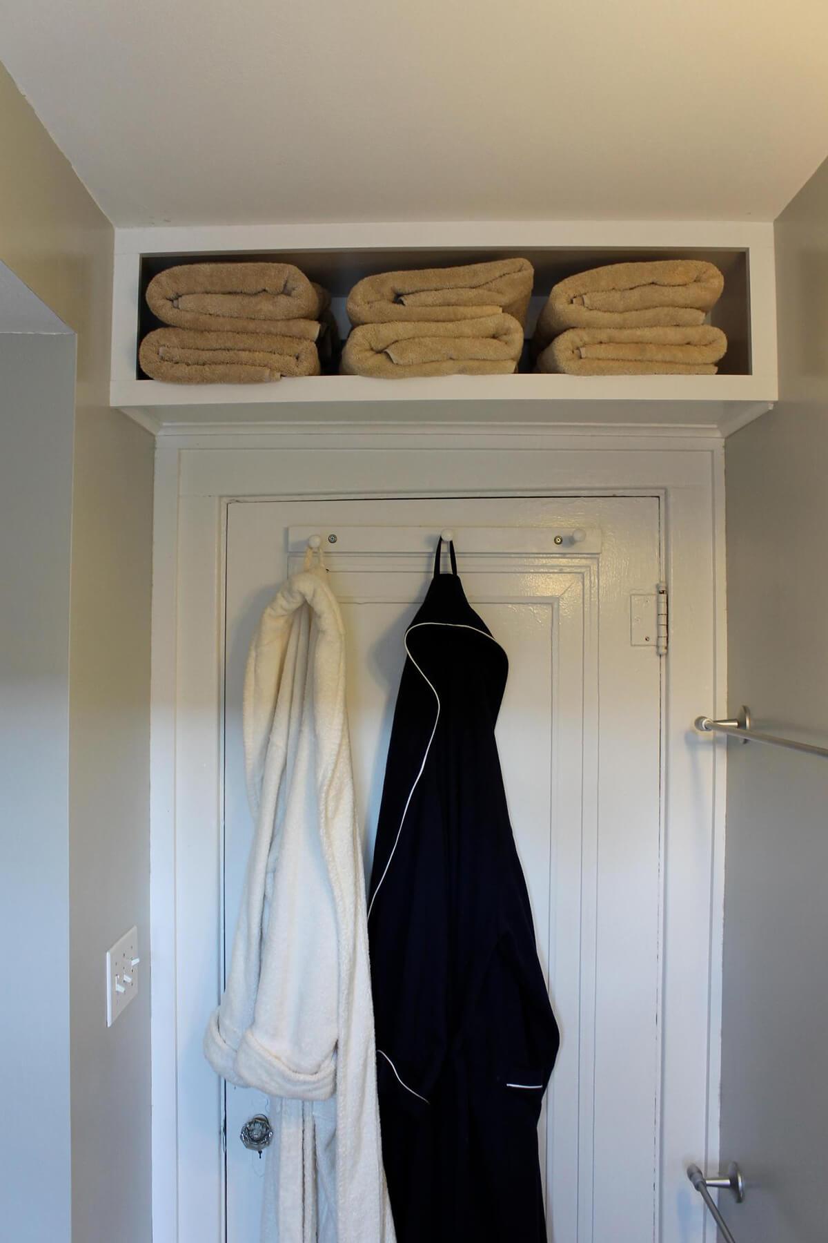 Over the Door Towel Shelf