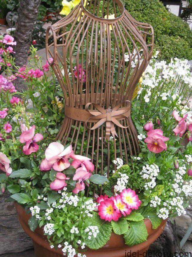 Antique Dress Form Garden Decoration