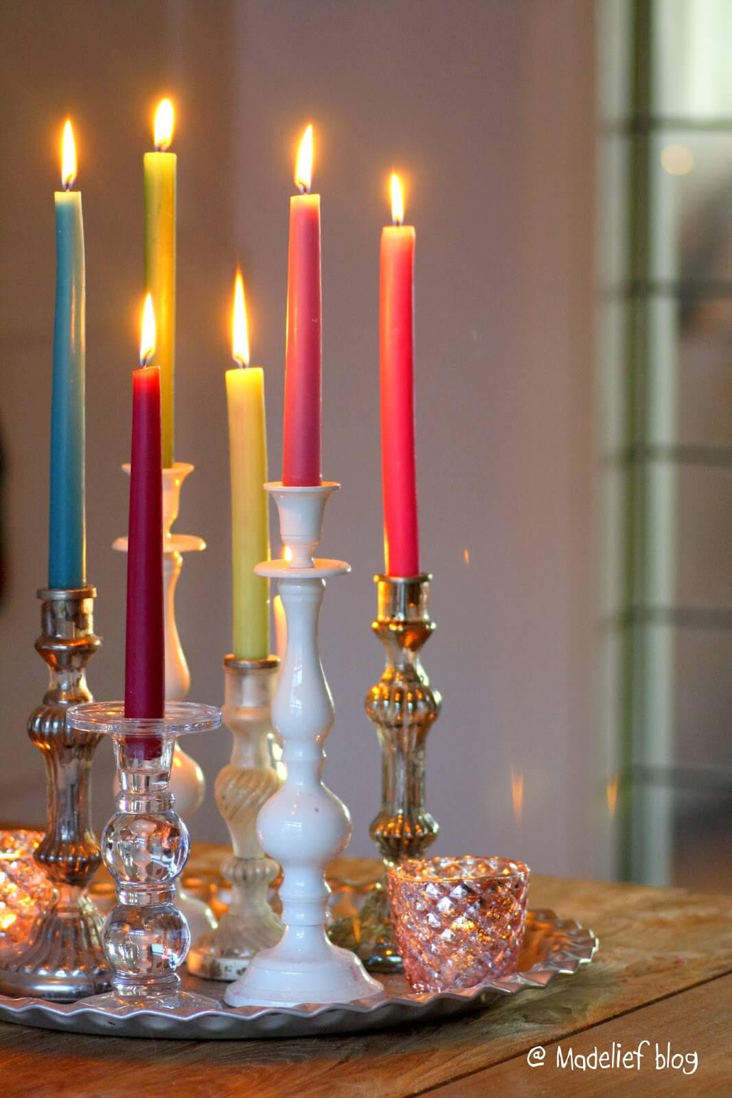 Vintage Holders, Festive Tapers Candles