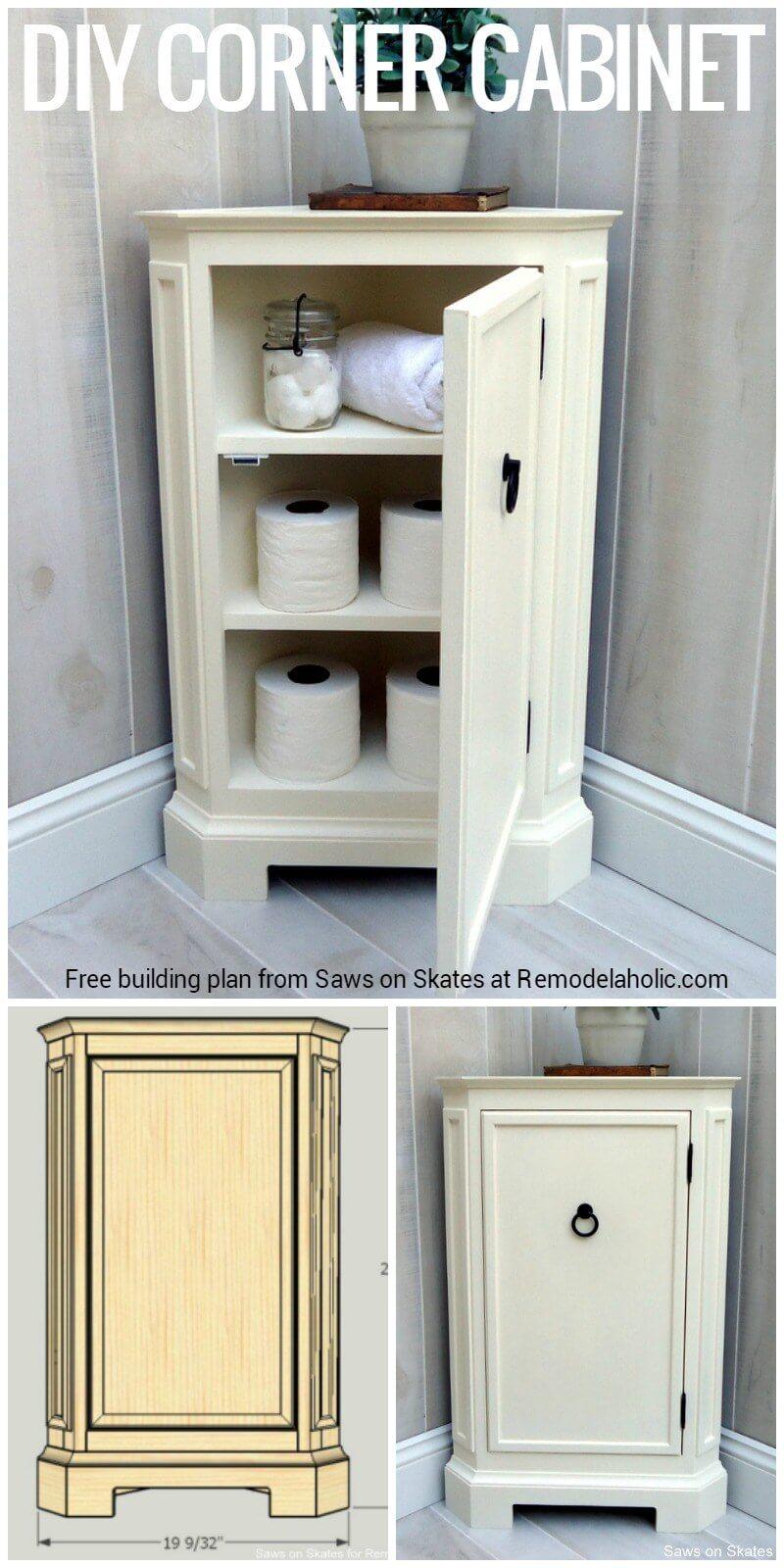 Corner Storage Idea for the Bathroom