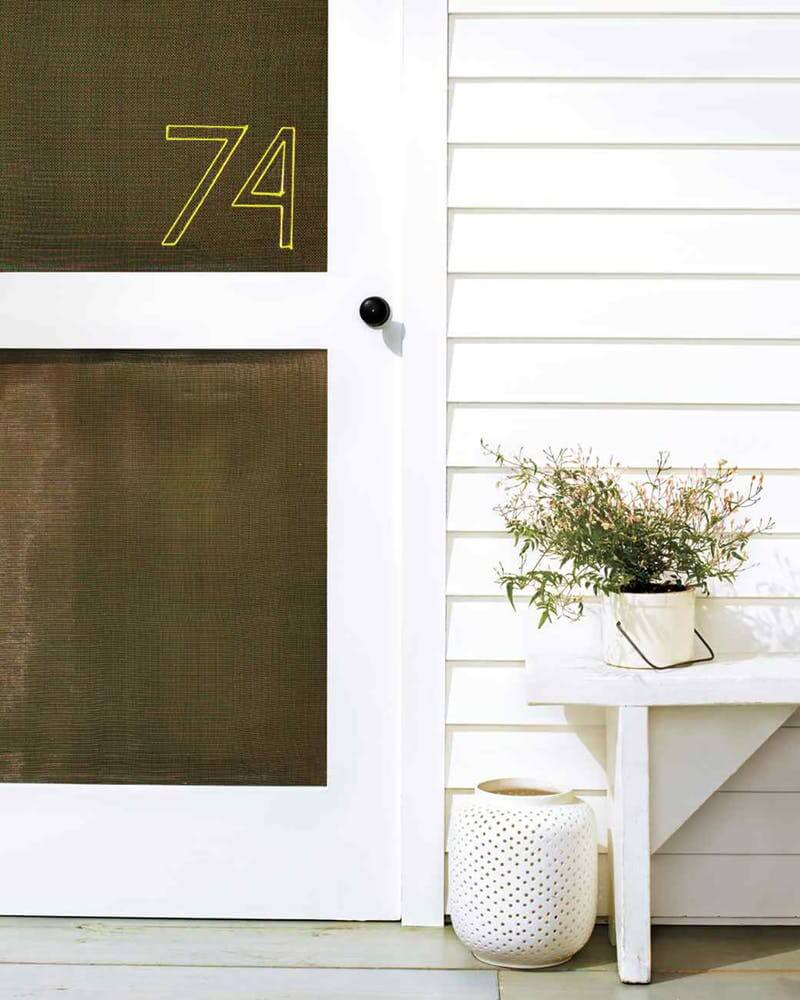 Large Number Outline On a Wooden Door