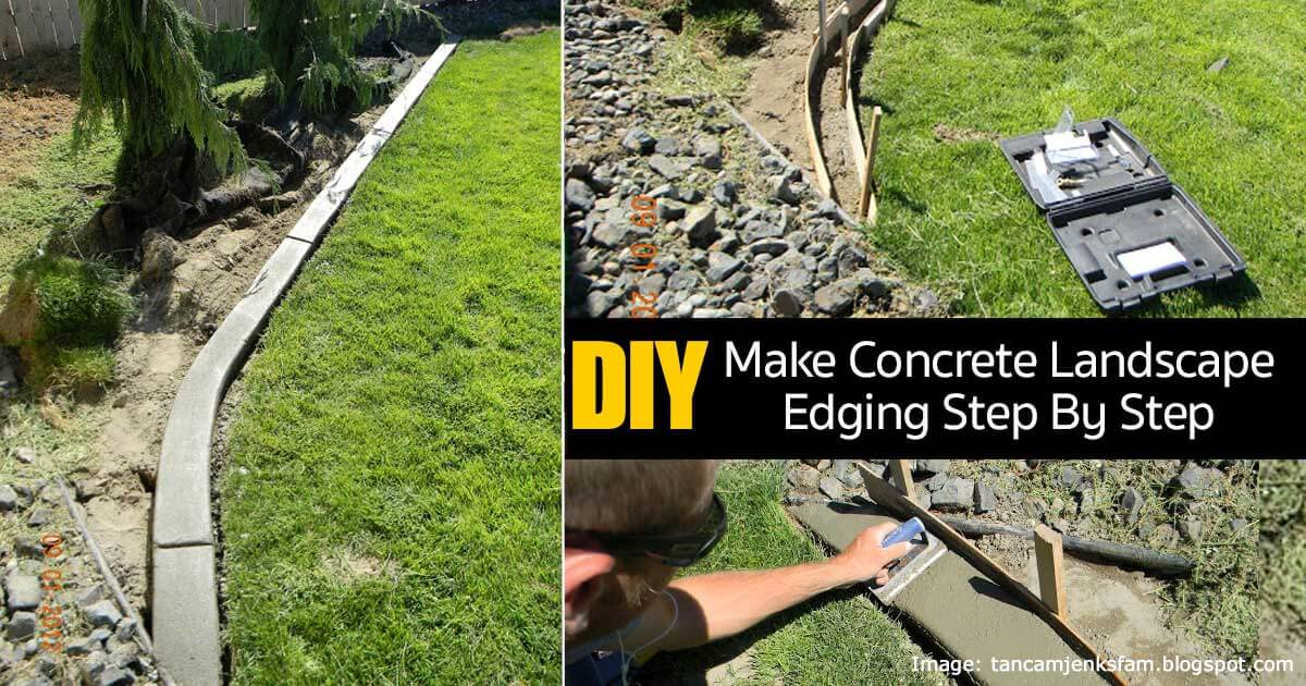 DIY Concrete Garden Edging Project