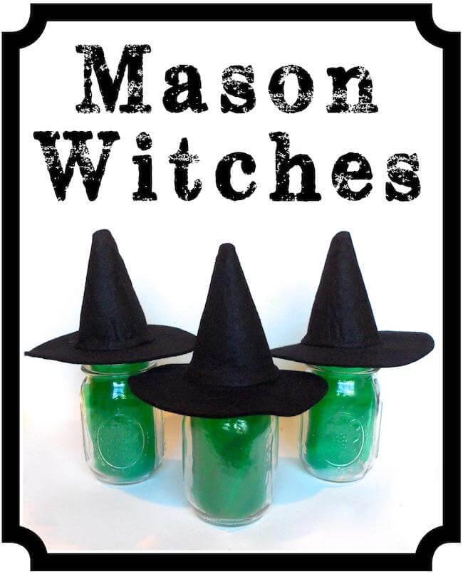 Super Simple Mason Jar Witches