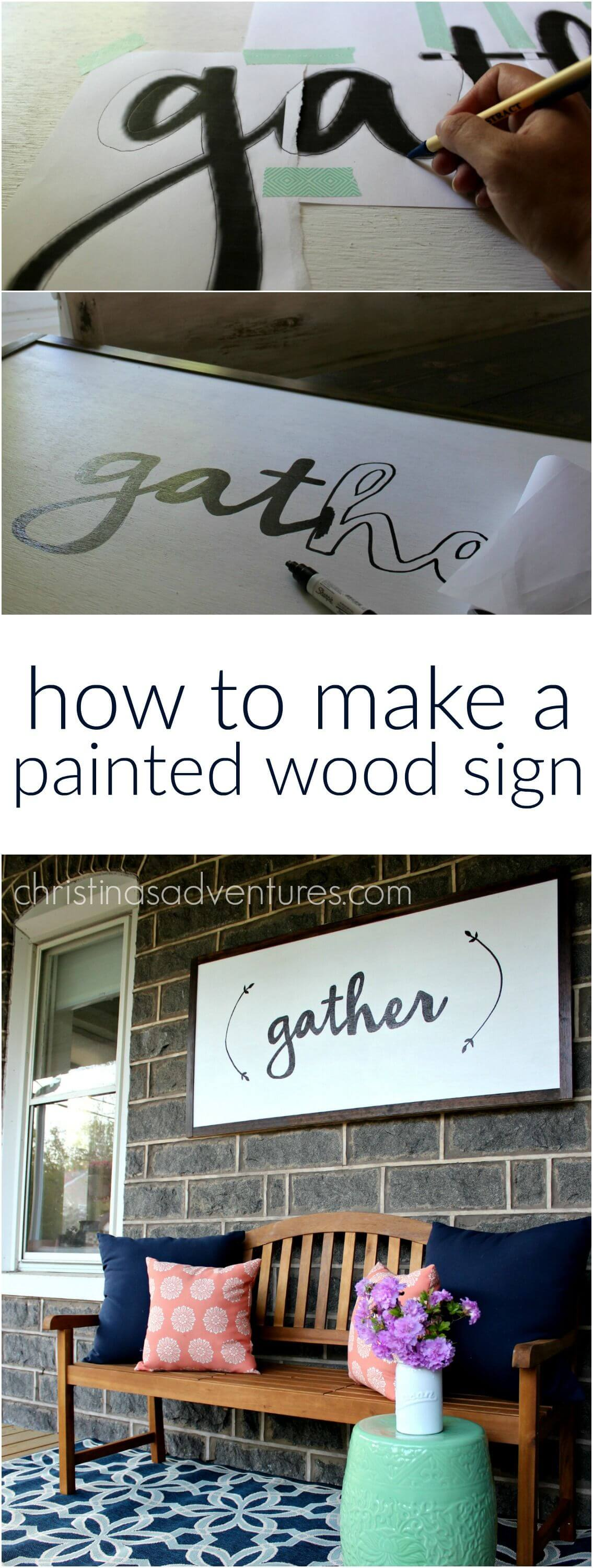 Stencil Your Own Wooden Signs